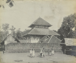 South-east view of Siva Temple, Chevayur, Malabar District, Calicut Taluk